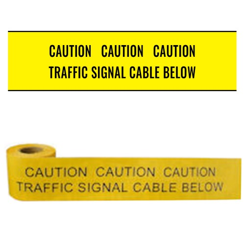 TRAFFIC SIGNAL CABLE BELOW - Premium Underground Warning Tape