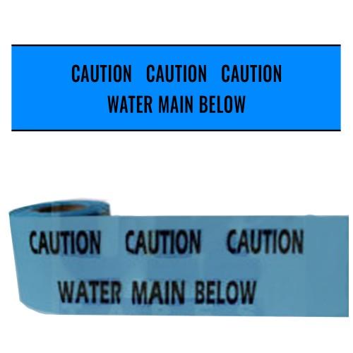 WATER MAIN BELOW - Premium Underground Warning Tape