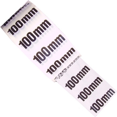100mm - White Printed Pipe Identification (ID) Tape