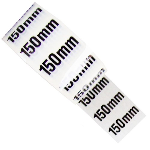 150mm - White Printed Pipe Identification (ID) Tape