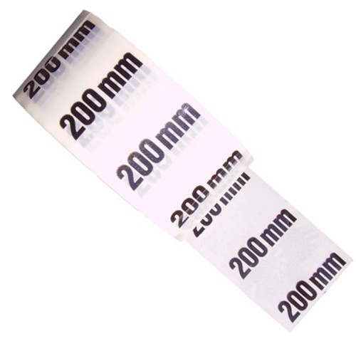 200mm - White Printed Pipe Identification (ID) Tape