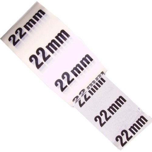 22mm - White Printed Pipe Identification (ID) Tape