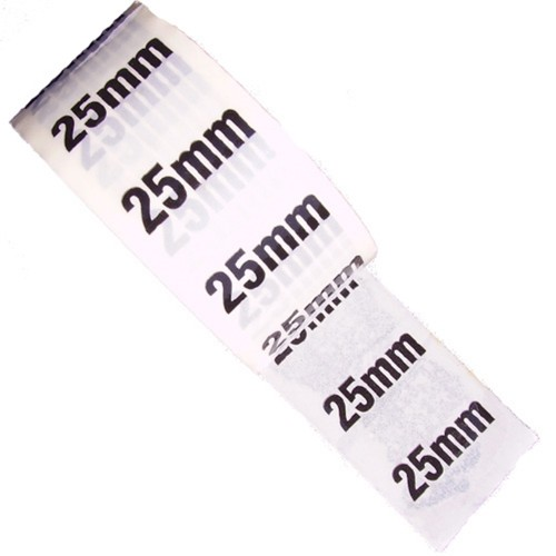 25mm - White Printed Pipe Identification (ID) Tape
