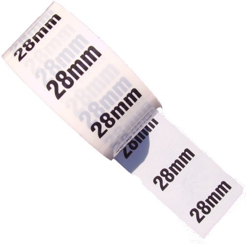 28mm - White Printed Pipe Identification (ID) Tape