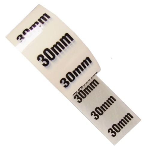 30mm - White Printed Pipe Identification (ID) Tape