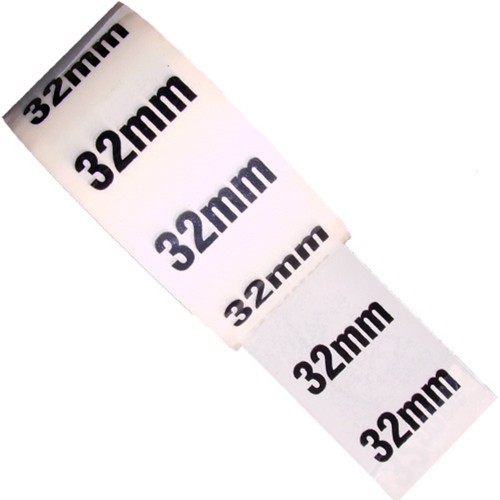 32mm - White Printed Pipe Identification (ID) Tape