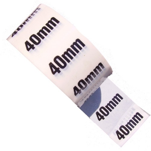 40mm - White Printed Pipe Identification (ID) Tape