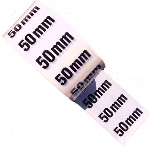 50mm - White Printed Pipe Identification (ID) Tape