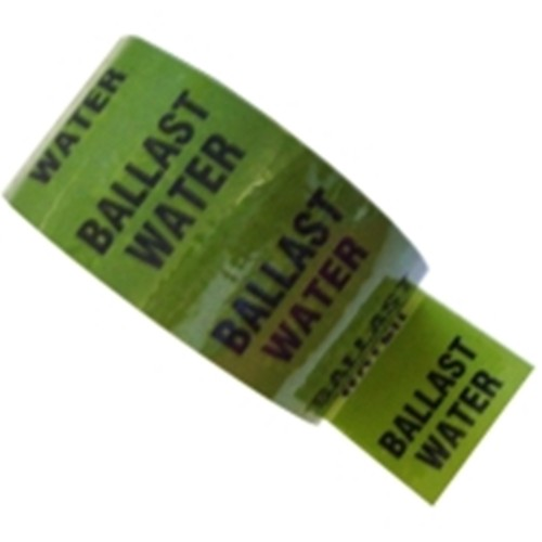 BALLAST WATER - Colour Printed Pipe Identification (ID) Tape