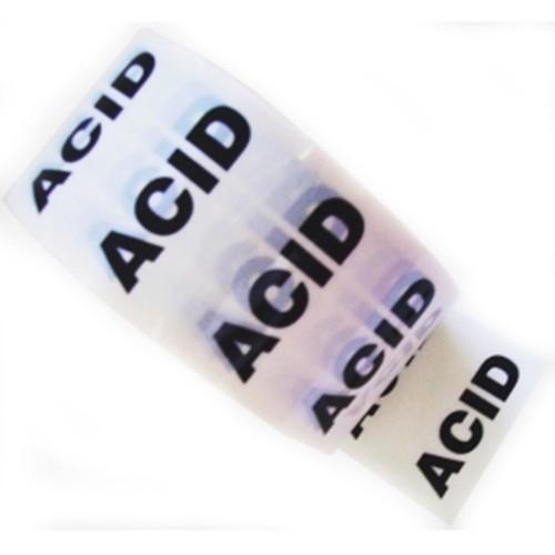 ACID - White Printed Pipe Identification (ID) Tape