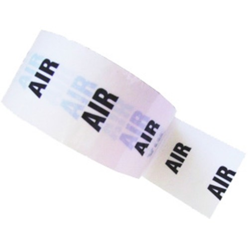 AIR - White Printed Pipe Identification (ID) Tape