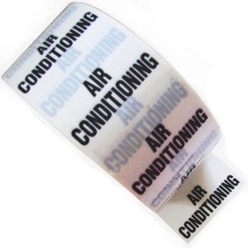 AIR CONDITIONING - White Printed Pipe Identification (ID) Tape