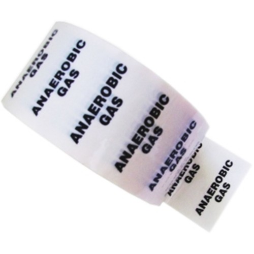 ANAEROBIC GAS - White Printed Pipe Identification (ID) Tape
