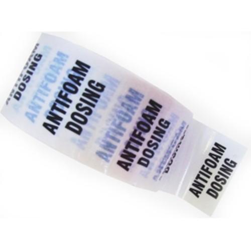 ANTIFOAM DOSING - White Printed Pipe Identification (ID) Tape
