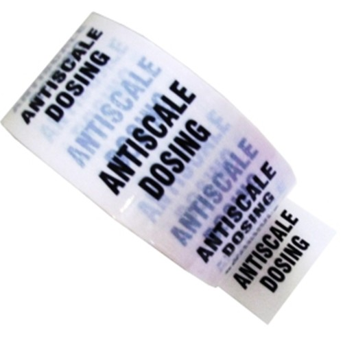 ANTISCALE DOSING - White Printed Pipe Identification (ID) Tape