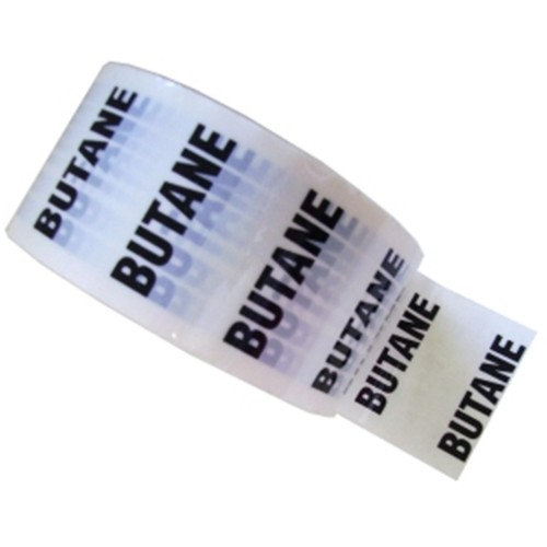 BUTANE - White Printed Pipe Identification (ID) Tape