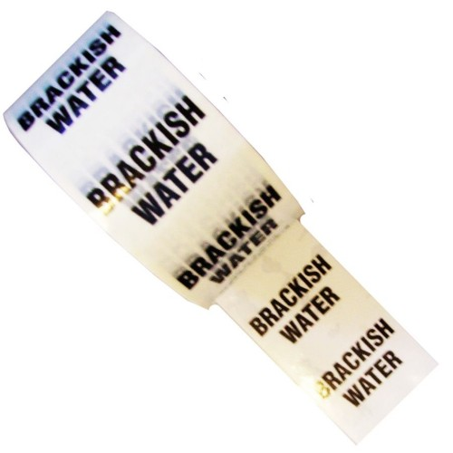 BRACKISH WATER - White Printed Pipe Identification (ID) Tape