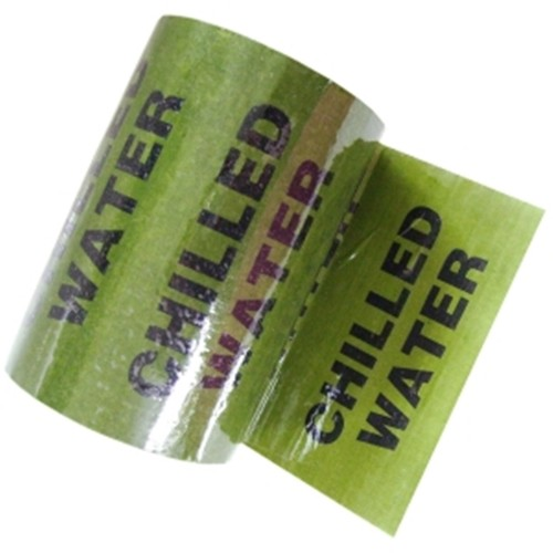 CHILLED WATER - Colour Printed Pipe Identification (ID) Tape