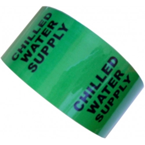 CHILLED WATER SUPPLY - All Weather Pipe Identification (ID) Tape