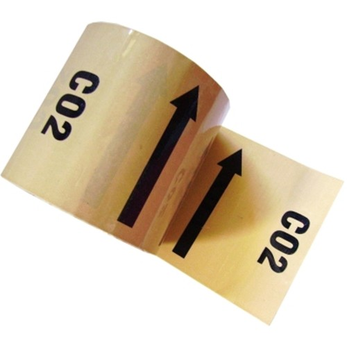 CO2 Arrow (Carbon dioxide) - Colour Printed Pipe Identification (ID) Tape