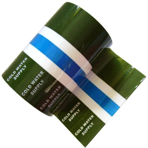 COLD WATER SUPPLY BS 1710:2014 - Banded Pipe ID Tape