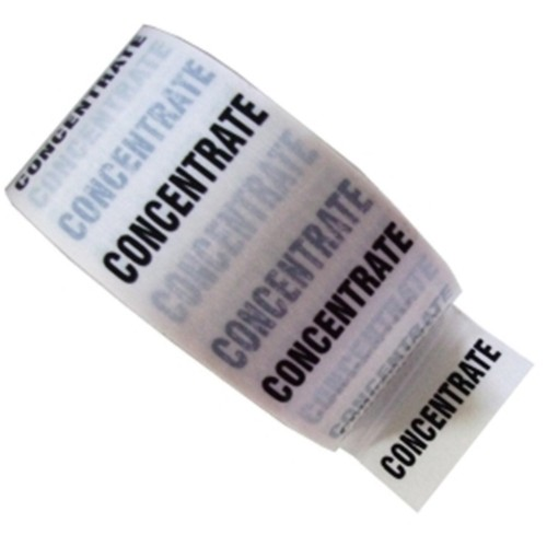 CONCENTRATE - White Printed Pipe Identification (ID) Tape