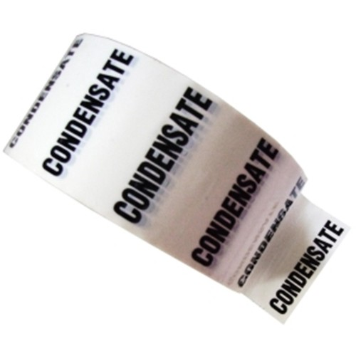 CONDENSATE - White Printed Pipe Identification (ID) Tape