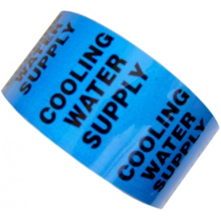 COOLING WATER SUPPLY - All Weather Pipe Identification (ID) Tape