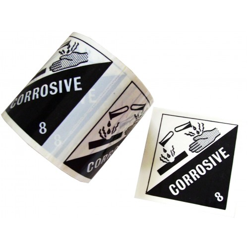 8 Corrosive - Premium Hazard Labels