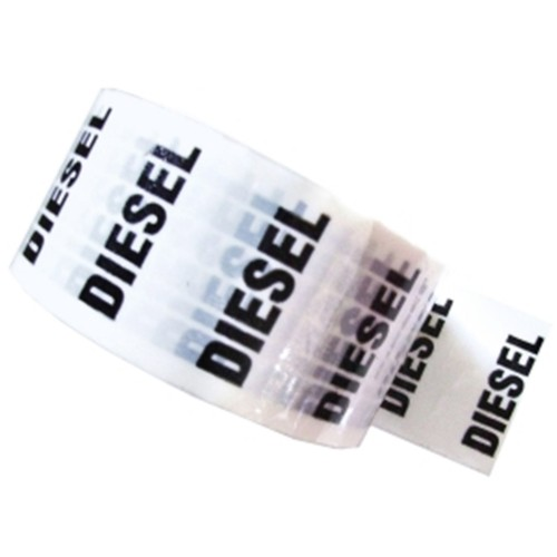 DIESEL - White Printed Pipe Identification (ID) Tape