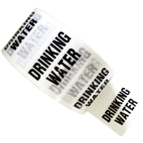 DRINKING WATER - White Printed Pipe Identification (ID) Tape