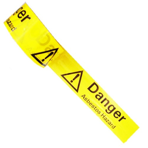 DANGER ASBESTOS HAZARD - Colour Printed Pipe Identification (ID) Tape