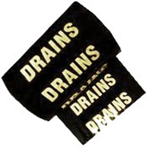 DRAINS - Colour Printed Pipe Identification (ID) Tape