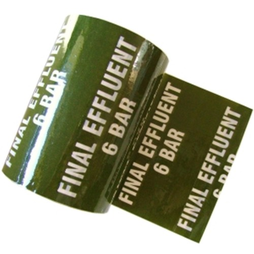 FINALE EFFLUENT 6 - Colour Printed Pipe Identification (ID) Tape