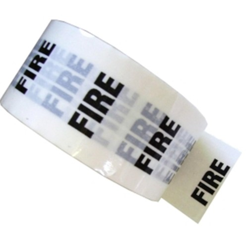 FIRE - White Printed Pipe Identification (ID) Tape