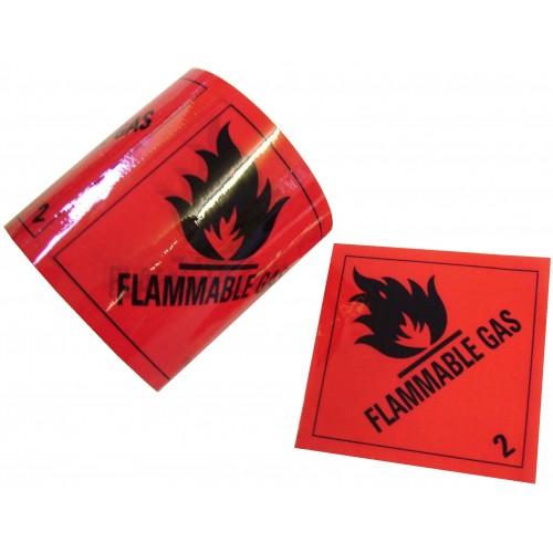 2 Flammable Gas - Premium Hazard Labels