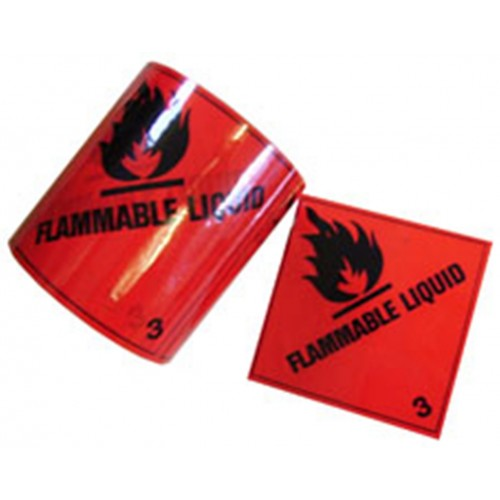 3 Flammable Liquid - Premium Hazard Labels
