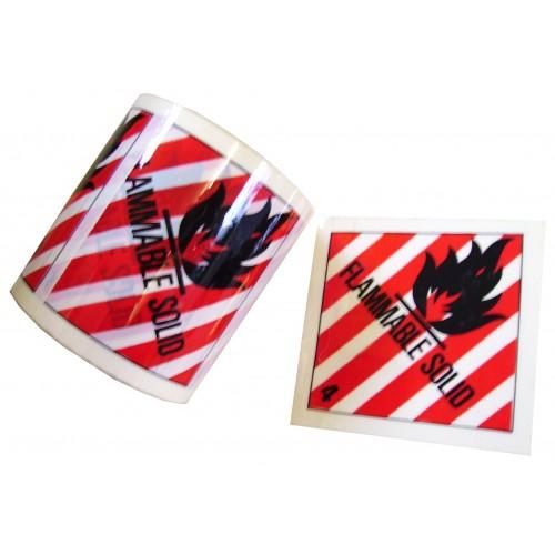 4 Flammable Solid - Premium Hazard Labels