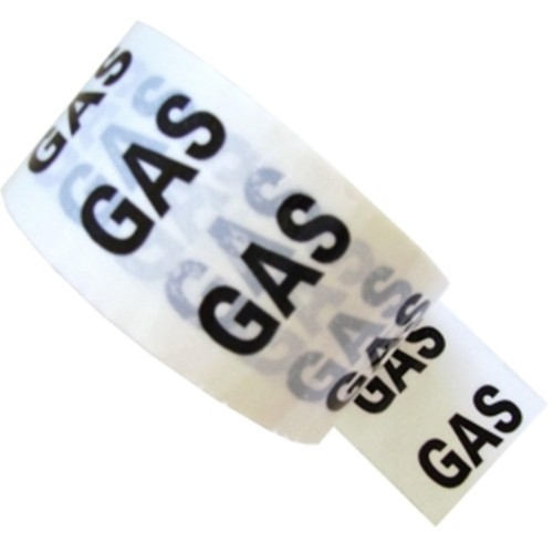 GAS - White Printed Pipe Identification (ID) Tape
