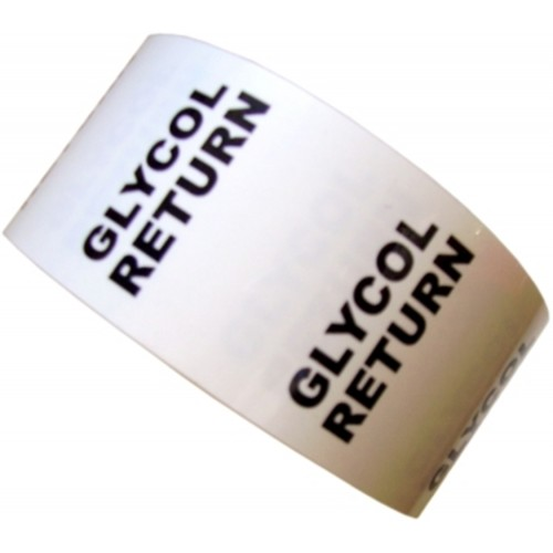 GLYCOL RETURN - All Weather Pipe Identification (ID) Tape