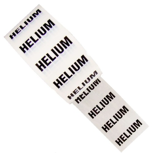 HELIUM - White Printed Pipe Identification (ID) Tape