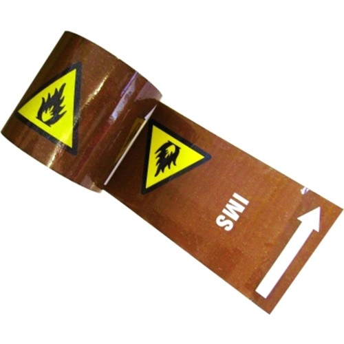 IMS With Warning Triangle & Arrows - Colour Printed Pipe Identification (ID) Tape