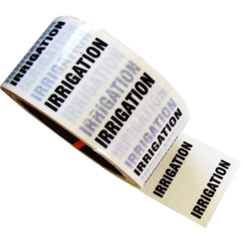IRRIGATION - White Printed Pipe Identification (ID) Tape