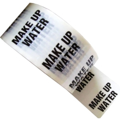 MAKE UP WATER - White Printed Pipe Identification (ID) Tape