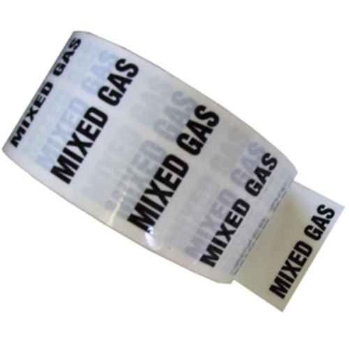 MIXED GAS - White Printed Pipe Identification (ID) Tape