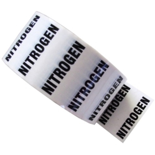 NITROGEN - White Printed Pipe Identification (ID) Tape