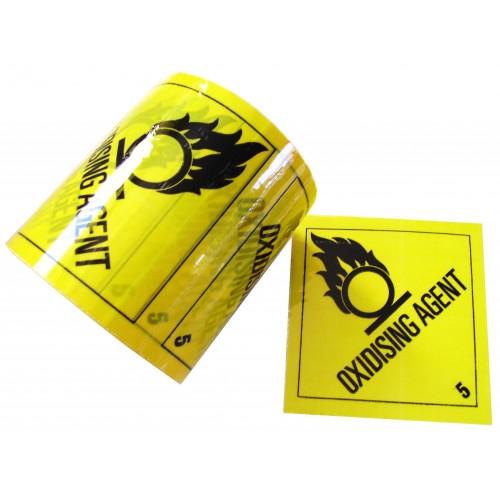 5 Oxidising Agent - Premium Hazard Labels