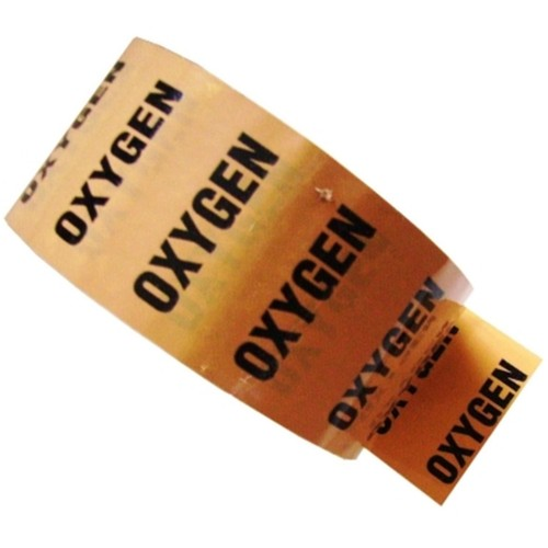OXYGEN - Colour Printed Pipe Identification (ID) Tape