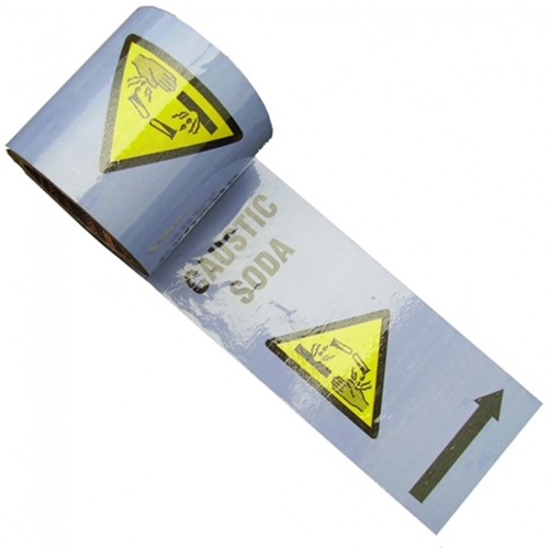 CAUSTIC SODA - Colour Printed Pipe Identification (ID) Tape