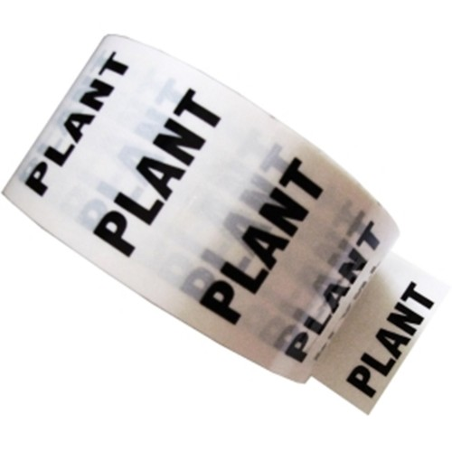 PLANT - White Printed Pipe Identification (ID) Tape